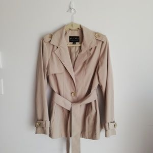 Liz Claiborne Axcess Trench Coat Jacket Sz Medium